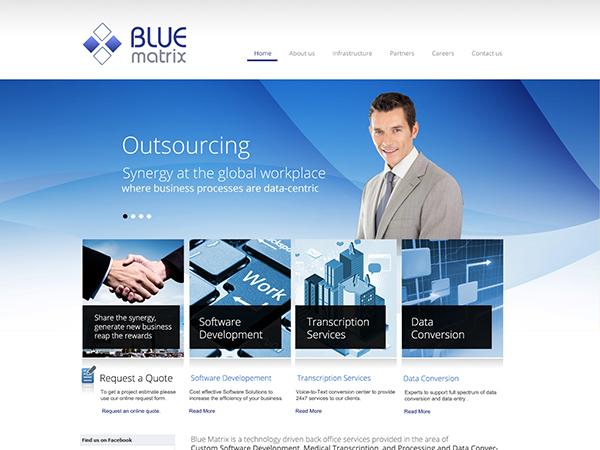blue matrix..