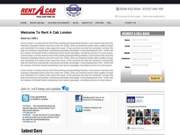 rent cab..